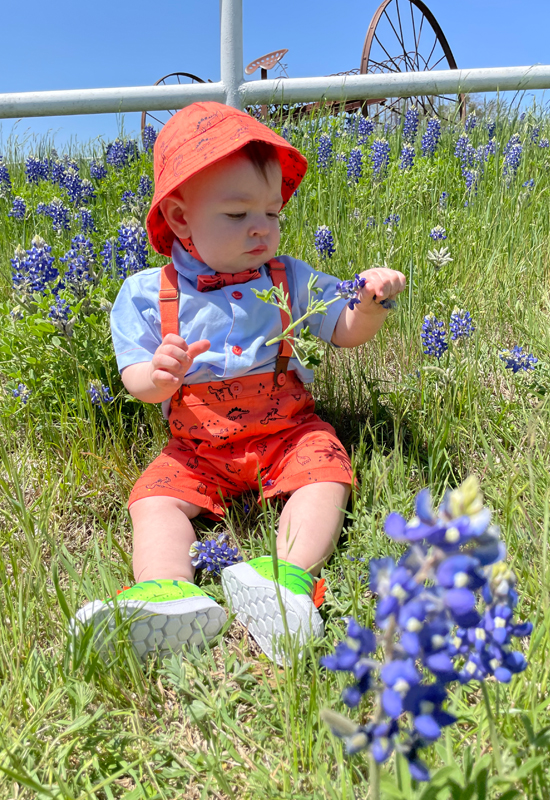 couple in bluebonnets